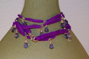 Elysium Warrior Wrap with Silk and Preciosa Beads