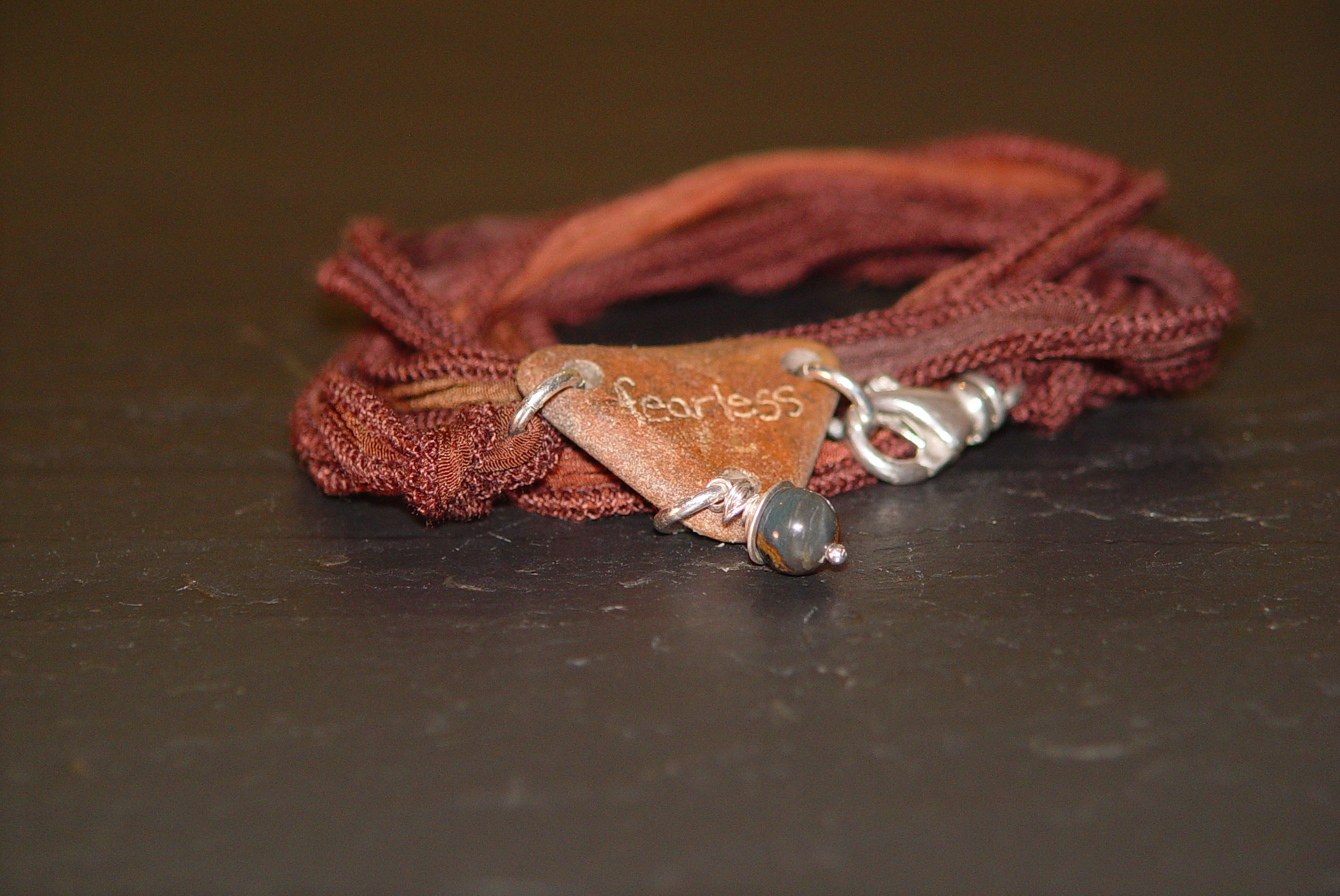 Phoenix with Silk and Pietersite Warrior Wrap
