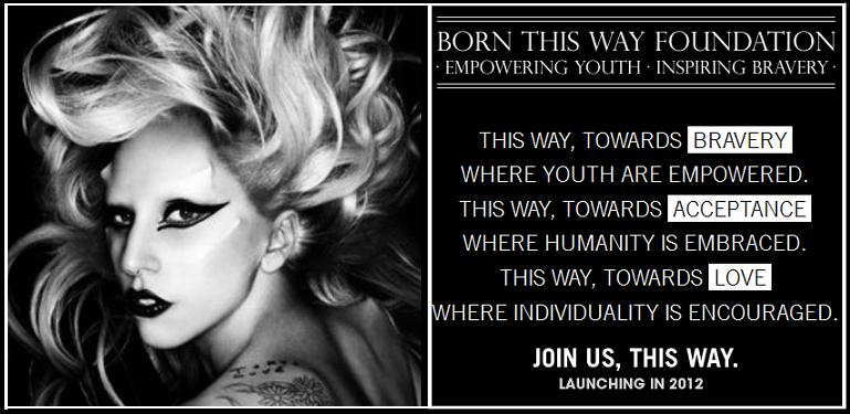 Featured Charity: Born This Way Foundation