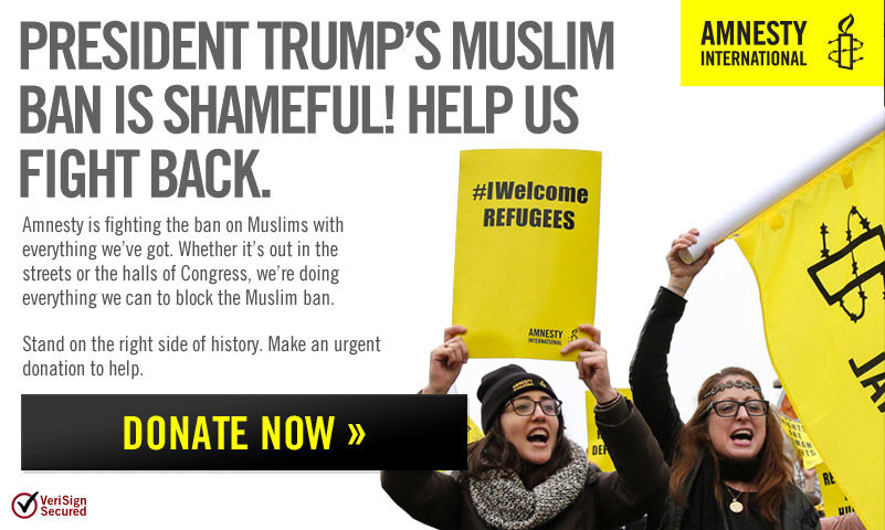 Featured Charity:  Amnesty International USA